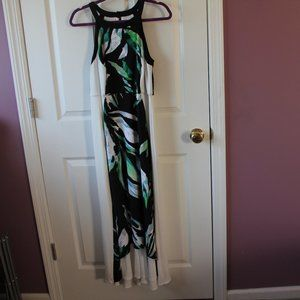 NWOT Gorgeous Chico Tropical High Low Maxi Dress